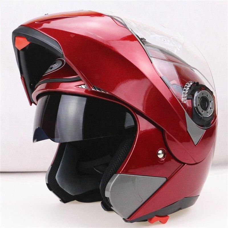 2016 Nouvelle Arrivée Casques Moto relevez casque avec visière soleil intérieur tout le monde abordable JIEKAI-150