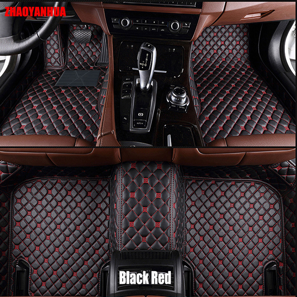 Zhaoyanhua car floor mats for honda accord crv city hrv vezel crosstour fit car styling leather anti slip carpet liners