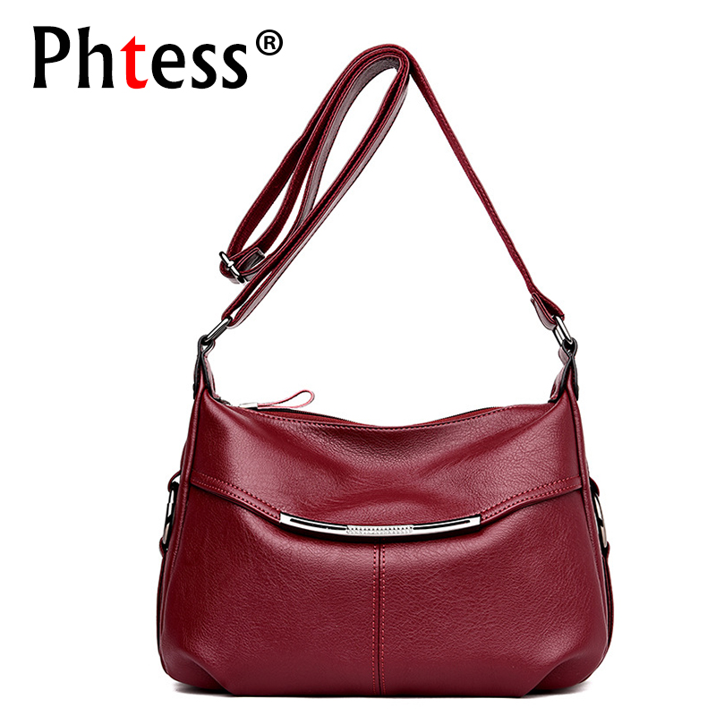 2019 Crossbody Bags For Women Leather Messenger Bags Small Ladies Luxury Designer Handbags Vintage Shoulder Bag Female Flap New