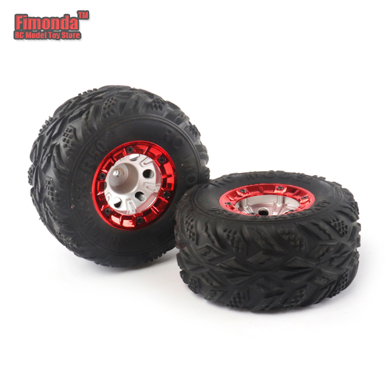 Fimonda for 1/12 RC car Wltoys 12428 FY-03 2 pcs 100mm Speed Car Tire Wheel Wheels Auto Upgrade Parts wltoys 12428 12423 1 12 rc car spare parts 12428 0091 12428 0133 front rear diff gear differential gear complete
