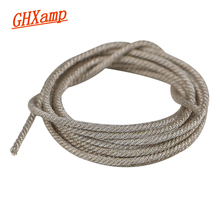 """GHXAMP 1 metr przewód zasilający dla 15 """"18"""" 21 Cal profesjonalnego PA głośnik subwoofer do naprawy głośnik niskotonowy cewka drgająca zastąpić srebrny kabel"""