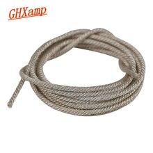 """GHXAMP Cable de plomo de 1 metro para altavoz Subwoofer profesional de 15 """", 18"""" y 21 pulgadas, reparación de Woofer, Bobina de voz, reemplazo de Cable plateado"""