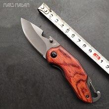 Titanium Folding Knife MARS MADAM Wood Handle Survival Tactical Pocket Knife Small Camping Knives EDC Tools платье madam t madam t ma422ewekqc2