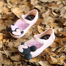 Mini SED Shoes 2017 Summer mickey mouse shoes Girls Sandals Cute Sandals for girls kids Shoes For Girl shoes Kids sandals