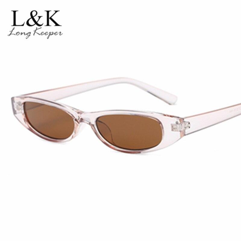 40b04e3b9b Long Keeper Women Vintage Small Narrow Unisex Oval Sunglass for Female  Retro Women s Shades Transparent Frame Eyewear Oculos-in Sunglasses from  Apparel ...