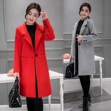 brand Design Winter Coat Women Warm Cotton-padded Wool Coat Long Women's Cashmere Coat European Fashion Jacket Outwear XXL