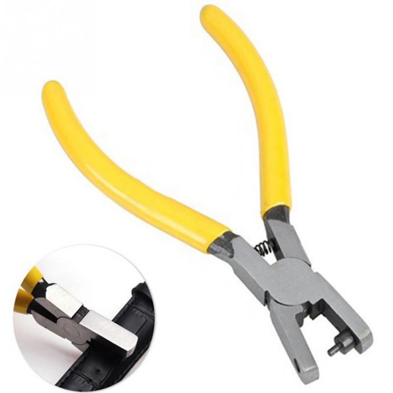 Zangen Werkzeuge Romantisch Universal 2,0mm Runde Loch Hand Lederband Uhr Band Gürtel Stanzen Werkzeug Gelb Kleine Locher Zangen Werkzeuge Schnelle Farbe