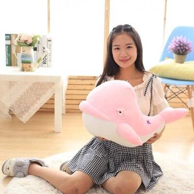 Peluche peluche grand 60 cm rose baleine doux oreiller cadeau de noël b0889