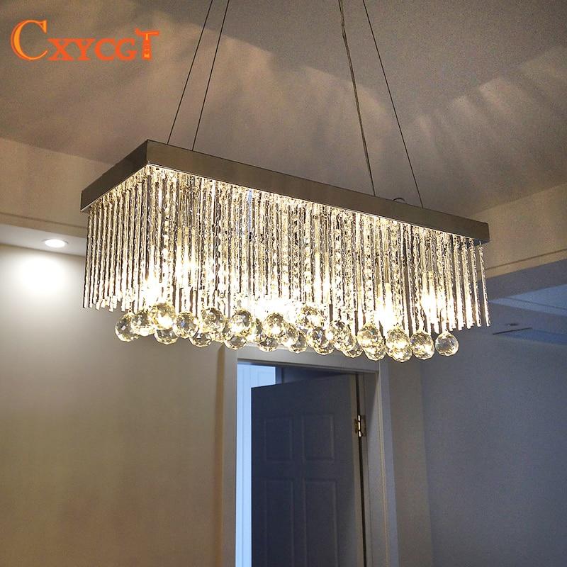 Modern European K9 chandeliers living room dining room led lights E14 led light lamp led lustre