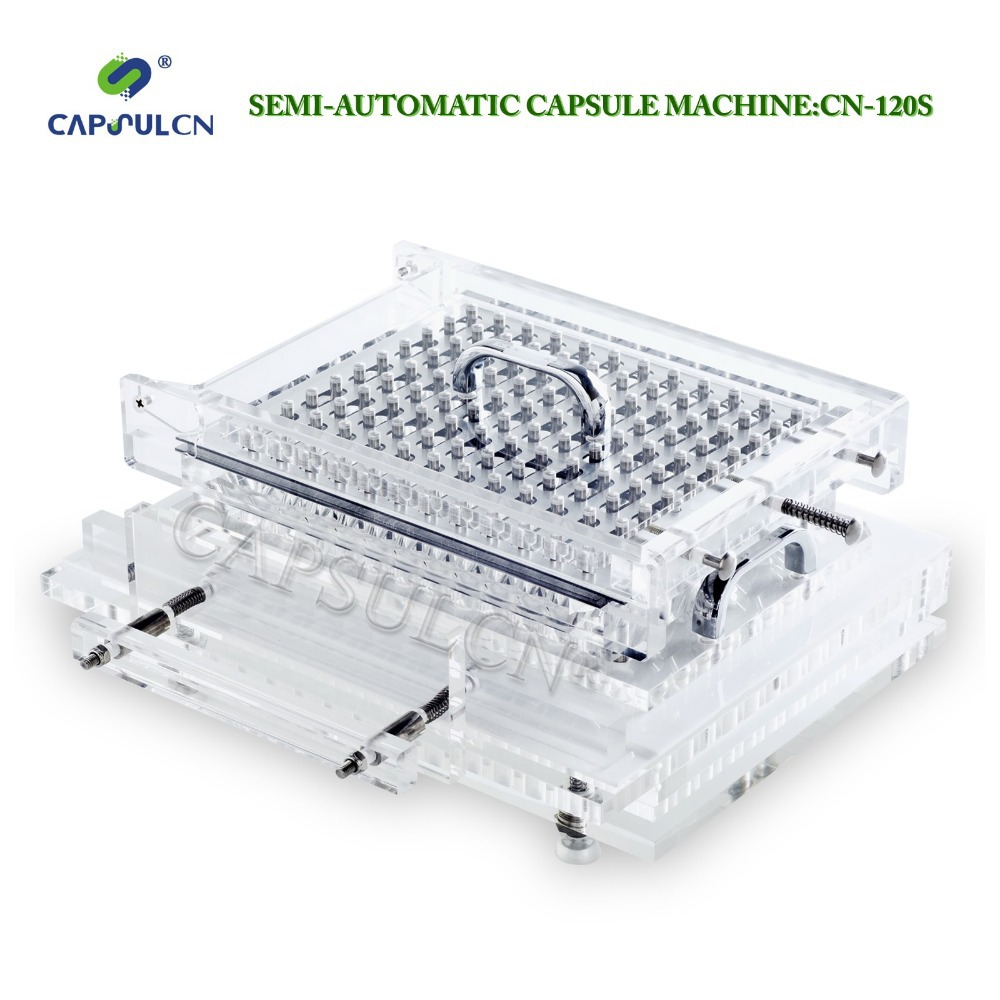 (120 holes) Size 3 High Precision CN-120S Pro Semi-Automatic Capsule Filler / Capsule Filling Machine/ Encapsulating Machine 204 holes size 0 capsulcn204s semi automatic capsule filler capsule filling machine capsule capper capsule connection machine
