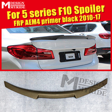 F10 Spoiler Tail  AEM4 Style FRP Unpainted Primer Black Fit For 520i 525i 528i 530i 535i 550i Rear Trunk Wing 10-17