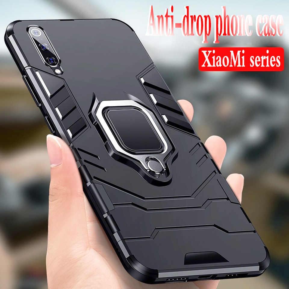 Роскошный магнитный автомобильный бампер с кольцом чехол для Xiao mi 9T mi 9 mi 8 SE mi 8 Lite силиконовый чехол для телефона для Red mi 7 Note 7 мягкий чехол