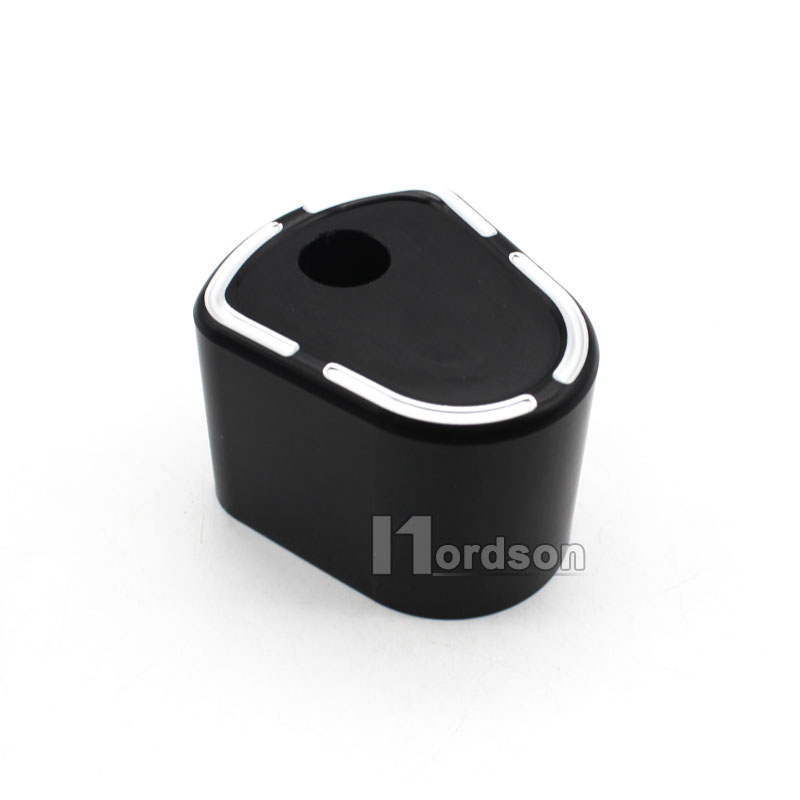 Black Motorcycle Deep Cut Ignition Switch Cover For Harley Street Glide 2007-2013 New