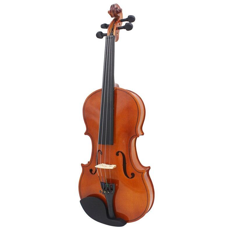 IRIN 4/4 violon acoustique naturel pleine grandeur violon artisanat Violino avec étui cordes d'arc muet Instrument à 4 cordes pour Beiginner - 2