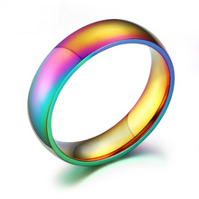 Fashion Colorful Rainbow Ring for Woman Jewelry Glare Korean Pop Jewelry Wholesale Gold Color Love Rings Men with Rings Size 12