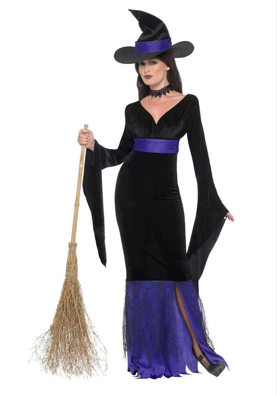 women's gothic vampire witch elvira costume sexy magic
