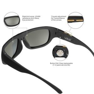 Image 4 - نظارات شمسية معتمة بتحكم في لون إلكتروني متغير ، نظارات شمسية للرجال ، نظارات شمسية رياضية ، نظارات شمسية LCD