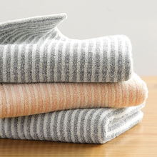 34x75cm 100% Cotton Striped Thicken Soft Washcloth Absorbent Travel Bathroom Adult Hand Towel For Family недорого