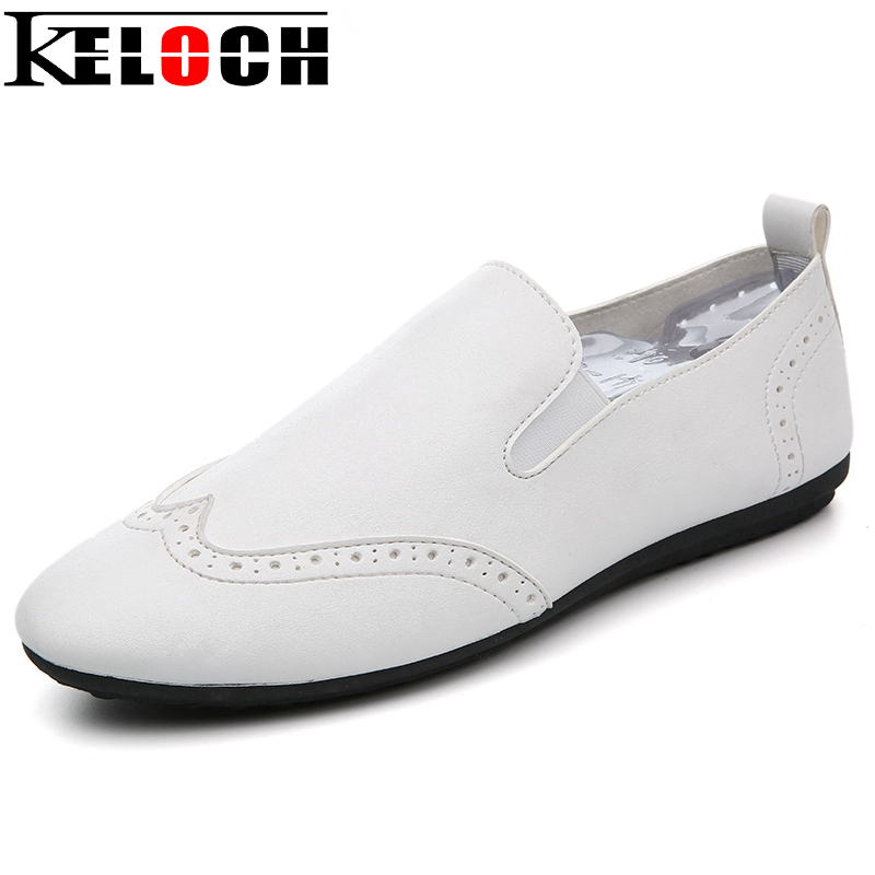 Keloch Brand Men Loafers High Quality PU Leather Casual Shoes Fashion Summer Style Soft Moccasins Men Flats Driving Shoes