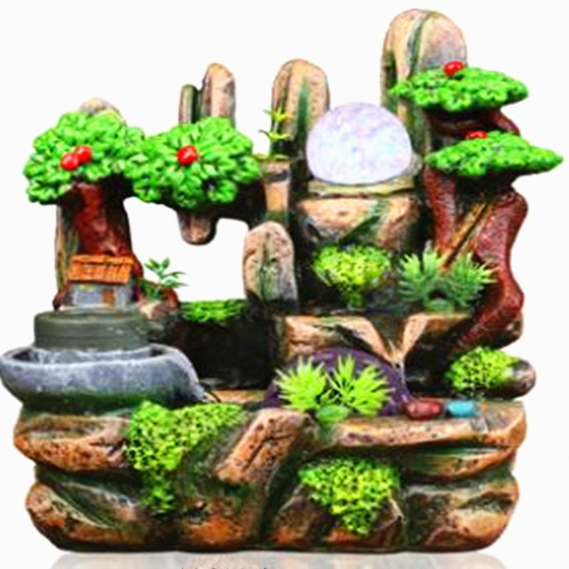 Rockery water fountain water indoor decoration lucky feng shui wheel fish-pond humidifier home decoration Rockery water fountain water indoor decoration lucky feng shui wheel fish-pond humidifier home decoration