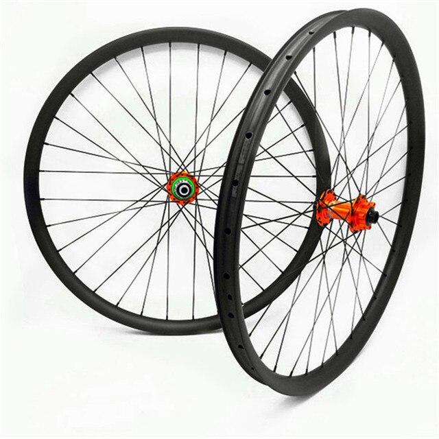 carbon disc mtb wheels 27.5er 29er XD mtb bike wheels UD matte HOPE pro4 boost disc mtb bicycle wheels 35x25mm width 1420 spoke