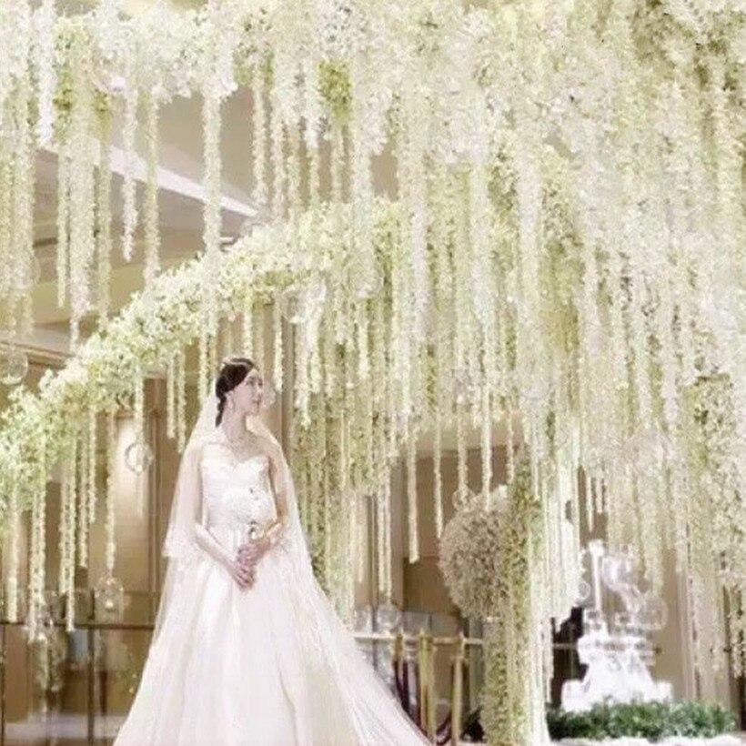 100 stks / partij Elegante Witte Orchidee Wisteria Wijnstokken 79 - Feestversiering en feestartikelen - Foto 2