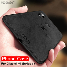 mi8 Soft TPU edge Deer Phone Case For xiaomi pocophone f1 mi 8 9 se a2 lite mi6 mi5 Cloth Cover redmi note 5 plus 6 8 pro 7 case