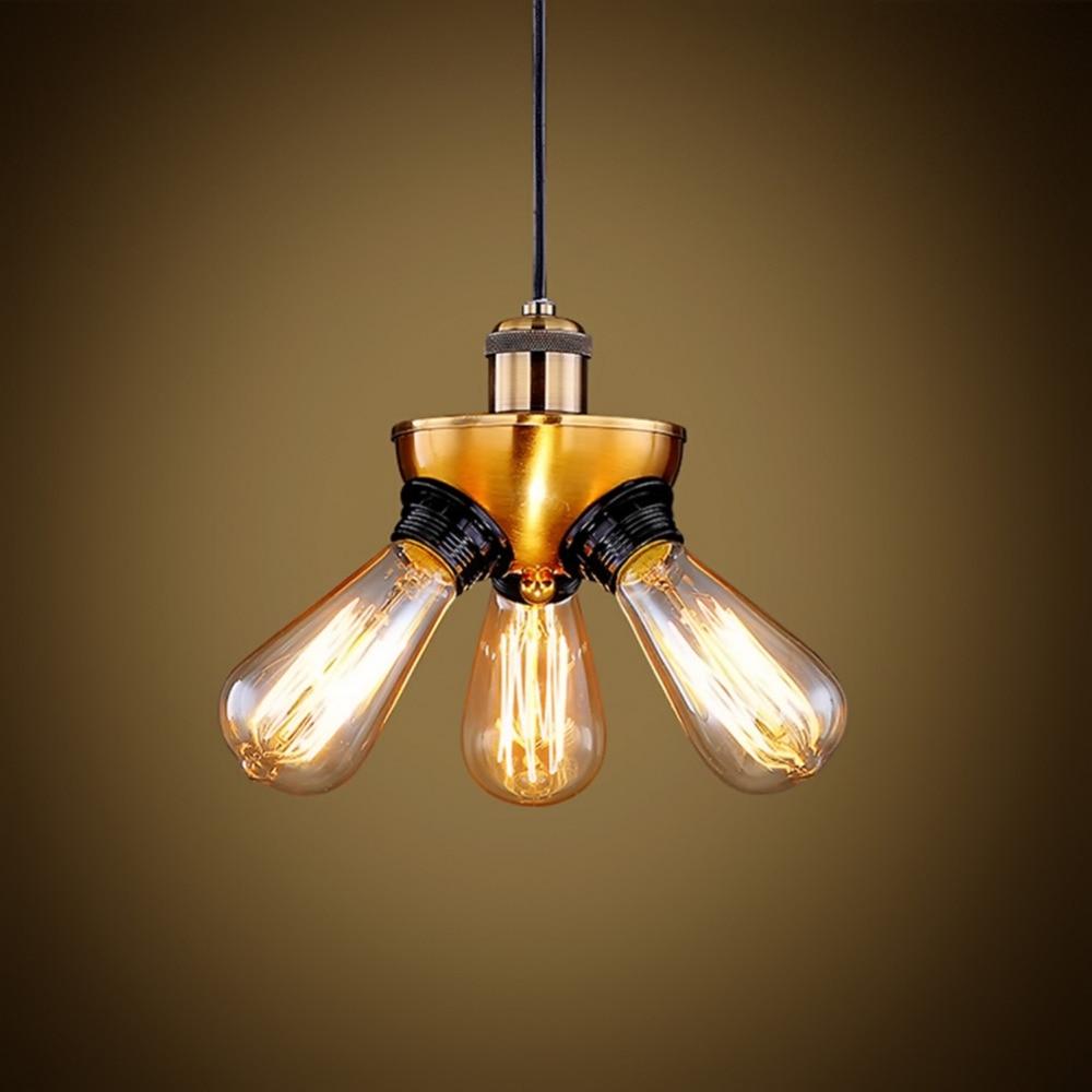 3 lights loft style vintage modern industrial pendant light iron pendant lamp edison bulb lamp fixture