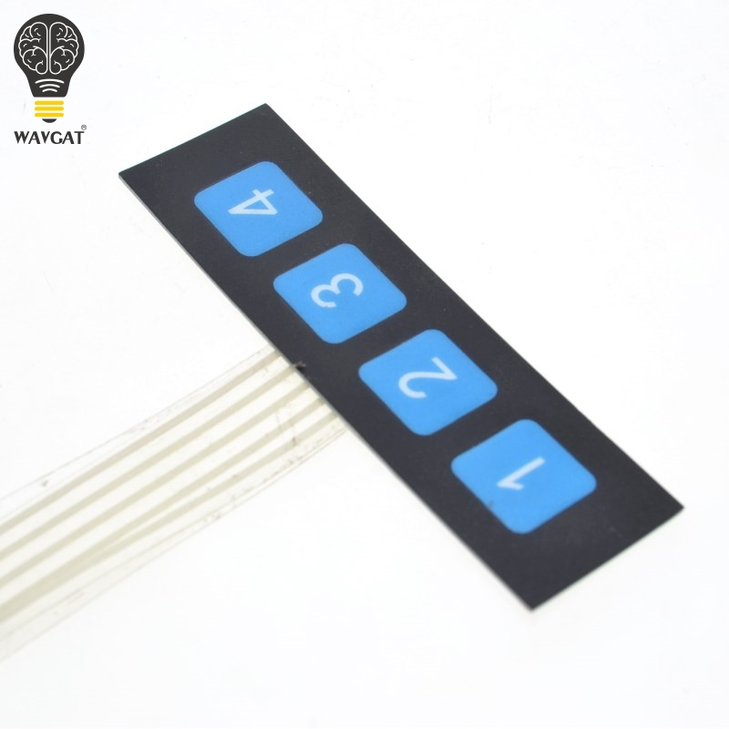 1pcs 1x4 4 Key Matrix Membrane Switch Keypad Keyboard Control Panel SCM Extended Keyboard Super Slim Controller Free shipping