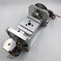 5th оси ось ЧПУ ось вращения 6:1 8:1 шаговый двигатель делительная головка 100 мм 3 челюсти токарный патрон для гравировального станка