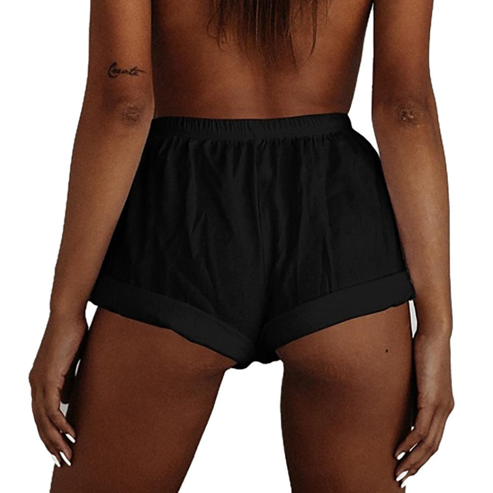 Plus Size Summer Women Sexy Solid Color High Waist Short Korean Street Style Casual Mini Shorts For Ladies 2019 New Fashion