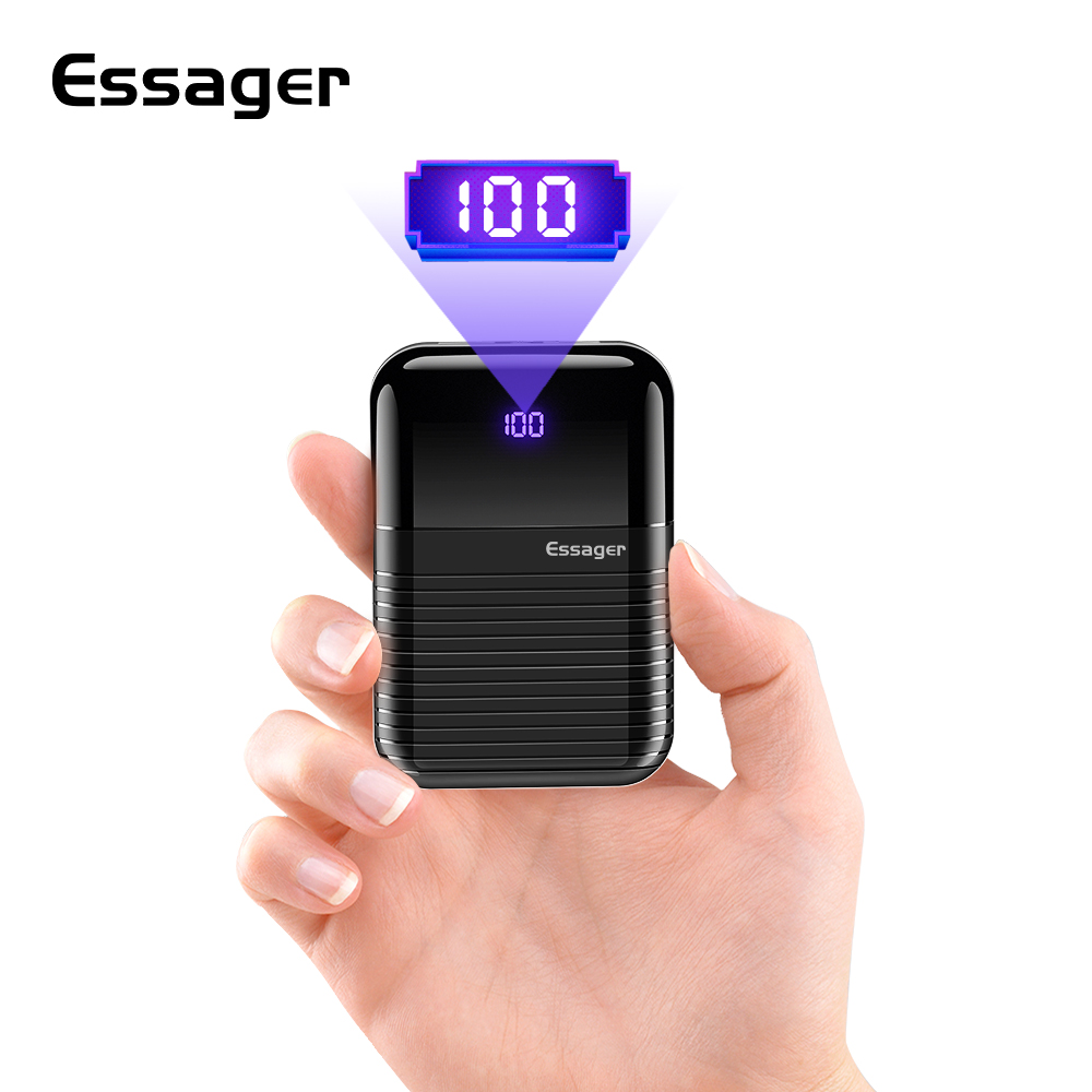 Essager 10000mAh Mini Power Bank 10000 mAh Fast Portable External Battery Charger USB Small Powerbank for Xiaomi mi iPhone Phone