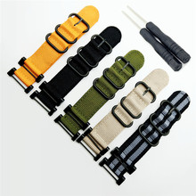 купить 5 Color Quick Drying For Suunto Core Series Traverse Watch Band Strap Nylon Zulu Watchband 24MM +1 set Adapters +Tools по цене 637.63 рублей