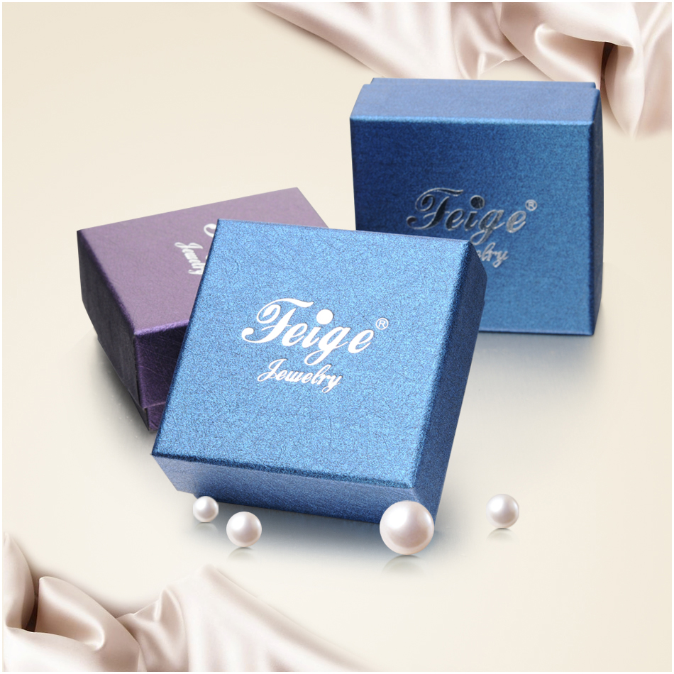 Classic Square 925 Sterling Silver Pearl Pendant Necklace for Women New Design 8 9mm White Freshwater Pearl Fine Jewelry FEIGE in Necklaces from Jewelry Accessories