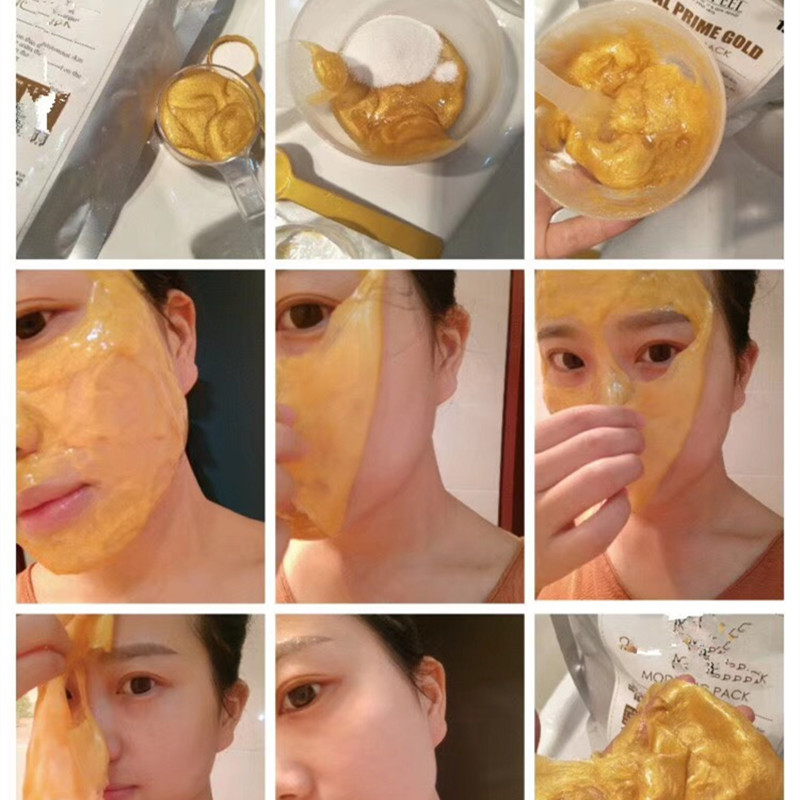 Beauty Salon Products High-end Luxury 24K Gold Peel Off Modelling Mask Gel Mud Compact 1000ml+100g Plant Amino Acid Powder food grade high purity 99% l arginine powder l arginine powder essential amino acid nutritional supplement
