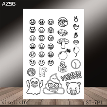 AZSG Small Expression Clear Stamps/Stamp/For Scrapooking/Card Making/Silicone Stamps/Decoration  Crafts