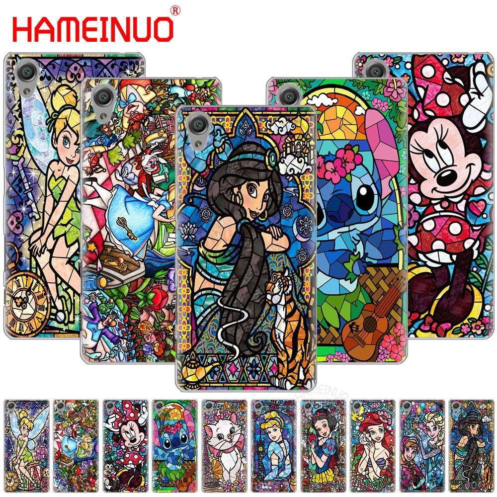 HAMEINUO stained glass Alice Mickey Cover phone Case for sony xperia C6 XA1 XA2 XA ULTRA X XP L1 L2 X XZ1 compact XRXZ PREMIUM