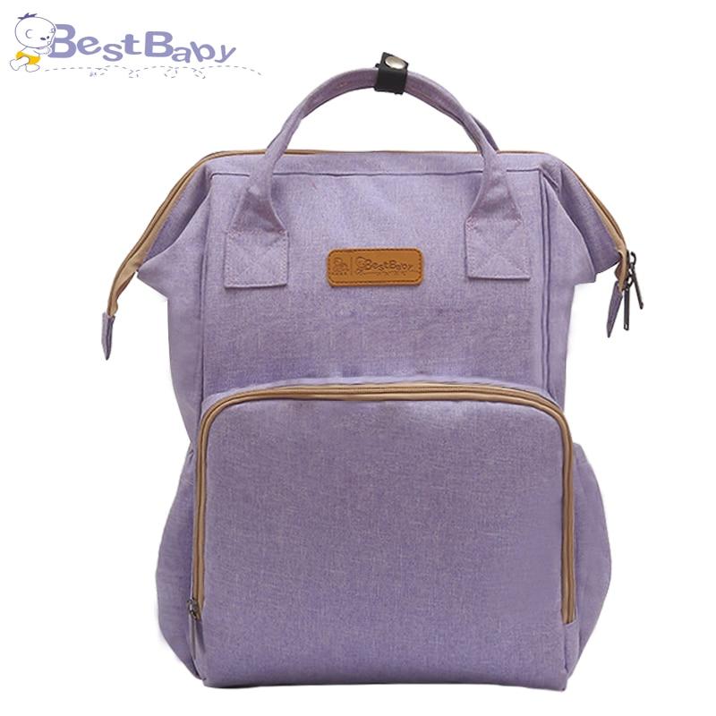2018 moda mamá maternidad pañal bolsa de gran capacidad bolsa de viaje mochila Desinger bolsa de enfermería para cuidado del bebé mochila - 5