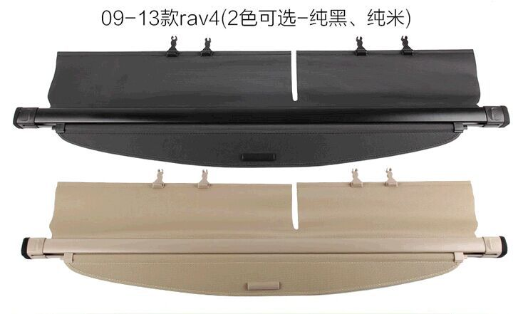 Free shipping 2009-2013 RAV4 special modified car trunk cover material curtain separated block Security Shield Cover car rear trunk security shield cargo cover for volkswagen vw tiguan 2016 2017 2018 high qualit black beige auto accessories
