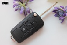 CYCTEM Car Key Cover 2+1 Buttons Modified Flip Remote Key Shell Blank Fob Case Fit For Hyundai Tucson + Free Shipping