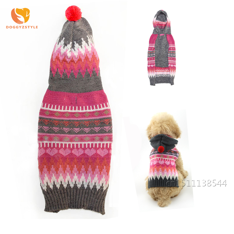 Free Shipping Reindeer Pet Puppy Cat Dog Sweater Striped Knitted ...