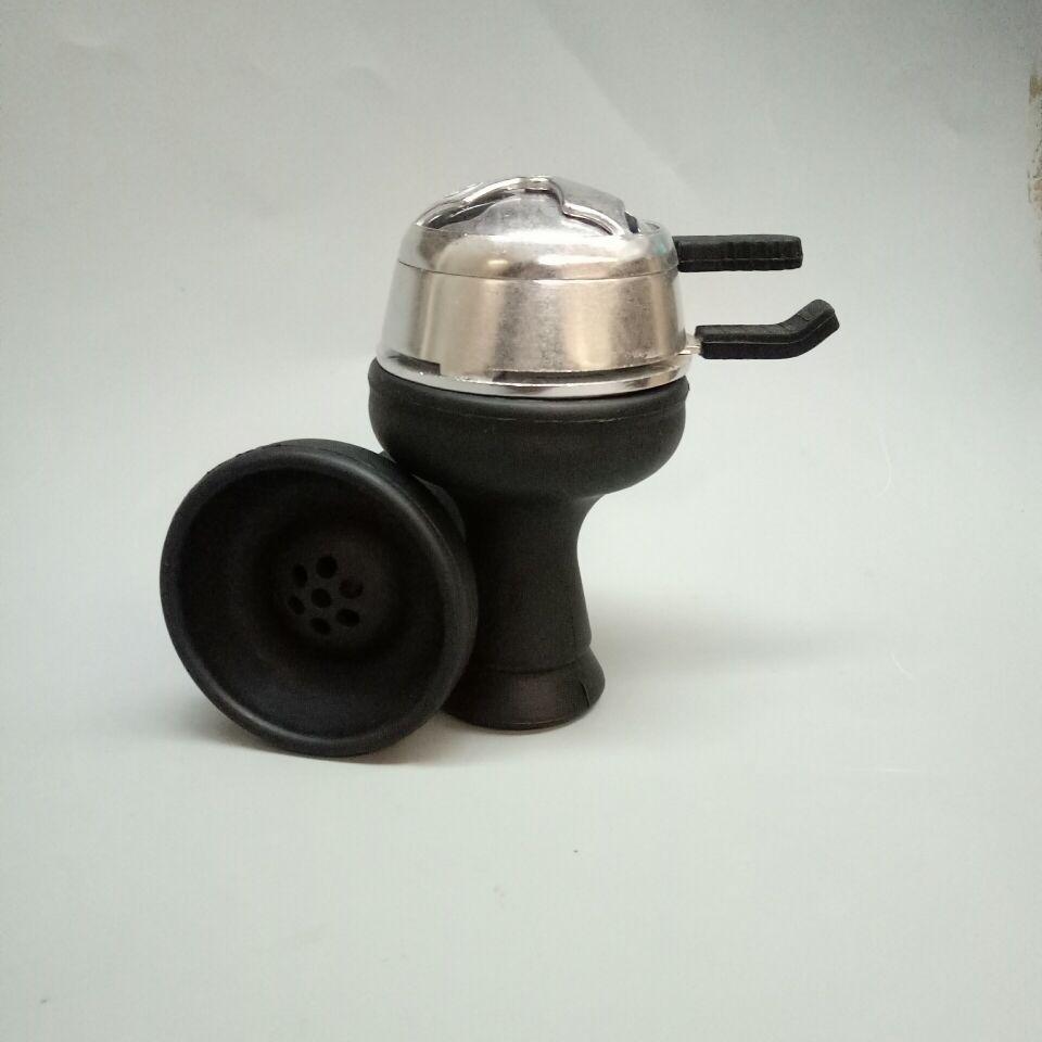1 pc shisha narguilé bol silicone narguilé bol avec 1 pc kaloud titulaire de charbon de bois