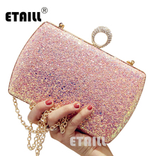 ETAILL 2017 Bling Paillette Day Clutch Bag Women's Shoulder Bag Fashion Glitter Sequin Evening Party Bags Pochette Soiree sequin everning clutch bag for party acrylics flap bag with metal china women clutch bling eye crossbody bag sequin bag
