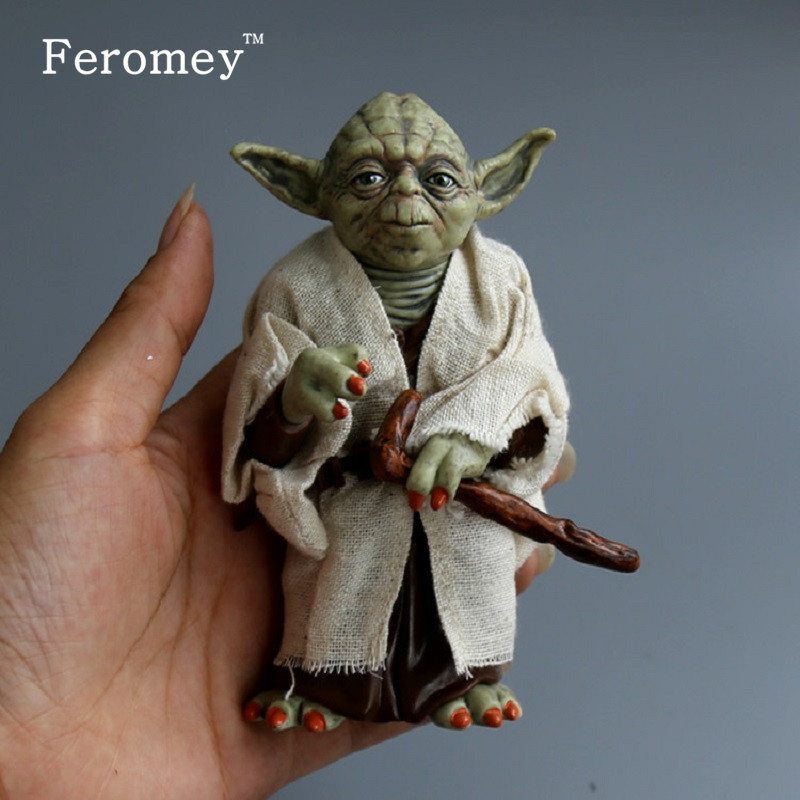 Disney Star Wars Yoda Darth Vader Action Figure Doll Toys The Force Awakens Jedi Master Yoda Anime Figures Lightsaber