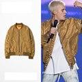 Страх божий джастин бибер MA1 бомбардировщик куртка мужчины хип-хоп Золотой ТУМАН ветровка куртка jaqueta masculina тактическая военная куртка