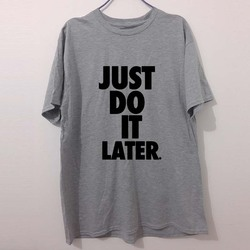 New camisetas just do it later letters t shirts men cotton tops casual tshirts short sleeved.jpg 250x250