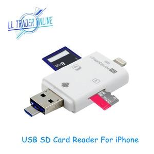 Image 1 - LL تاجر i Flash Drive متعدد بطاقة OTG قارئ HD مايكرو SD و TF ذاكرة USB محوّل قارئ البطاقات لجهاز iPhone 8/Andriod/PC
