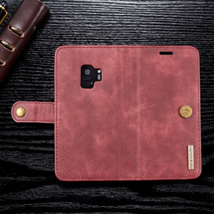 Image 3 - Magnetic Leather Wallet Case For Samsung A3 A5 J3 J5 2017 EU Flip Purse For A7 A6 A8 Plus 2018 Kickstand 360 Protective Cover