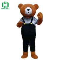 Adult Teddy Bear Mascot Costume Cartoon Character Costumes Adult Mascot Costume Fancy Dress Party Suit