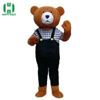 Adult Teddy Bear Mascot Costume Cartoon Character Costumes Adult Mascot Costume Fancy Dress Party Suit